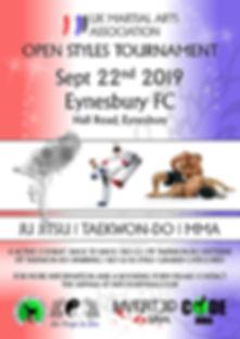 MMA and ju jitsu tournament poster