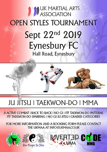 MMA and ju jitsu tournament poster