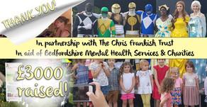 £3000 raised for the Chris Frankish Trust