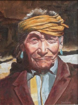 Chama indian with golden scarf
