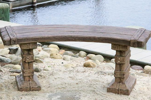 "48"" Curved Castaway Bench"
