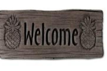 "11"" Welcome Stone-Pineapple"