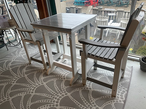 3pc Pub Set in Light Gray and White