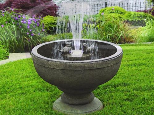 """26"""" Fleur De Lis Bird Fountain"""