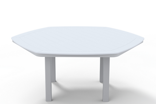 "62"" MGP Hexagon Table w/Umb Hole"