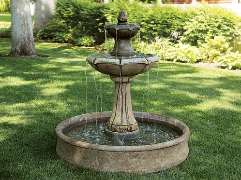 Two Tier Charlotte Fountain on Pool