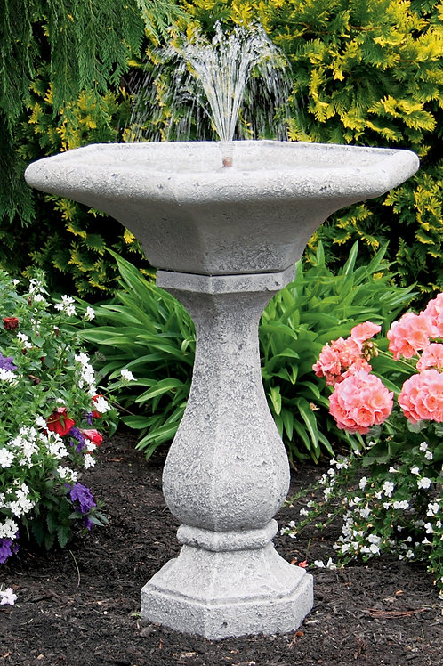 """30"""" Chelsea Fleur De Lis Hexagon Fountain"""