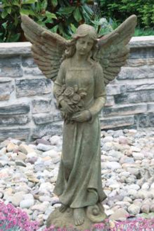 "42"" Angel with Roses"