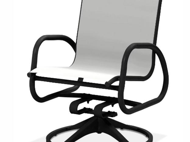 Gardenella Swivel Dining Chair With Black Frame Sunlinepatio