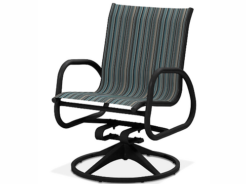 Gardenella Swivel Dining Chair with Black Frame
