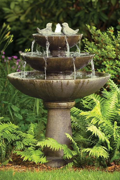 "44"" Tranquillity Spill Fountain With Birds"