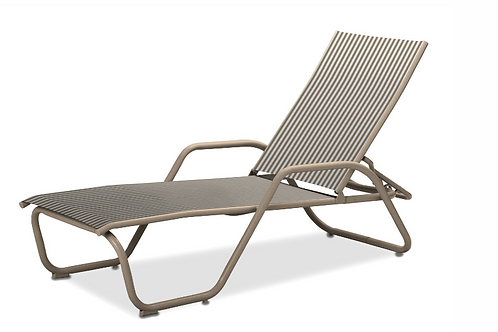 Gardenella Chaise W/arms with Desert Frame