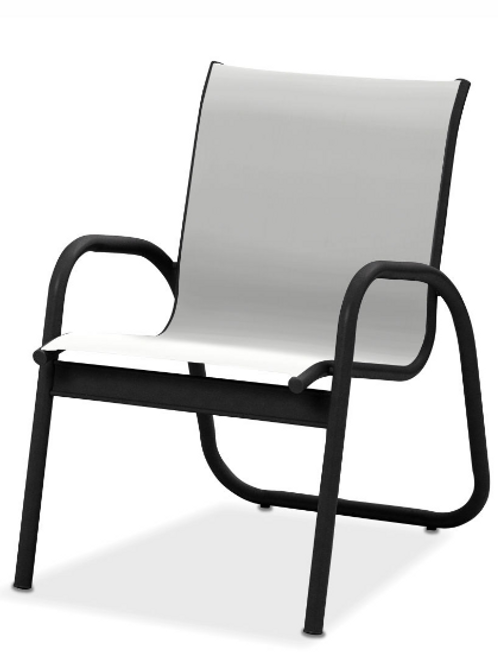 Gardenella Stacking Dining Chair with Black Frame