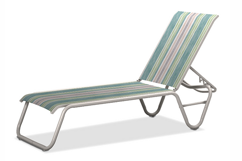 Gardenella Armless Chaise with White Frame