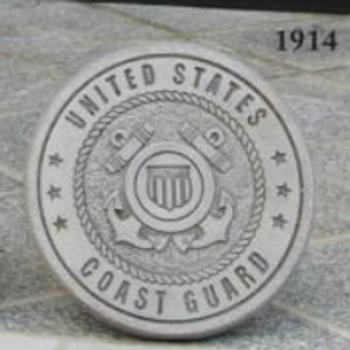 "10"" Round Stone-Coast Guard"