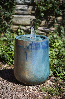 Daralis Glazed Fountain - Weathered Copper