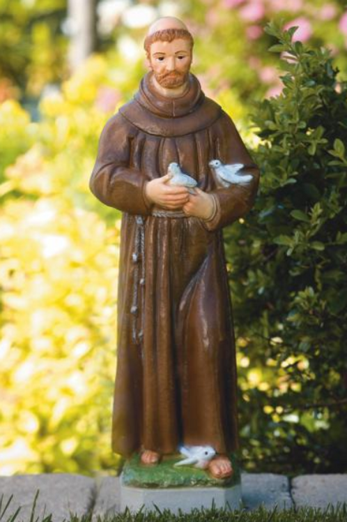 """26"""" St. Francis with Birds"""