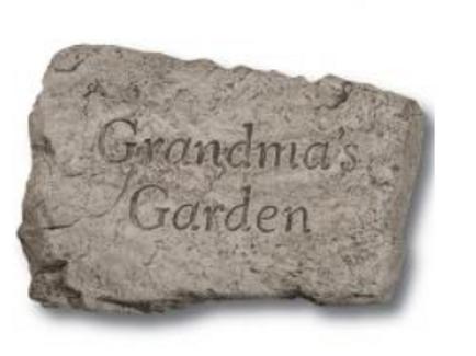 "10"" stone- Grandma's Garden"