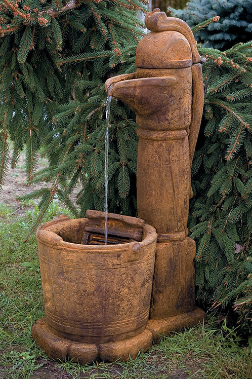 Country Pitcher Pump Fountain