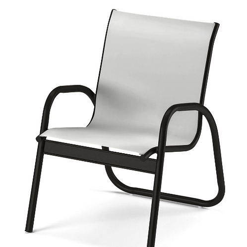 Gardenella Stacking Dining Chair with Graphite Frame