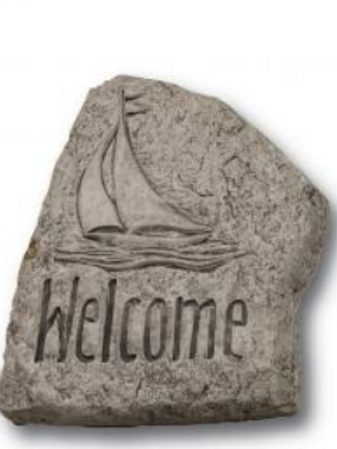 8' stone-welcome sailboat