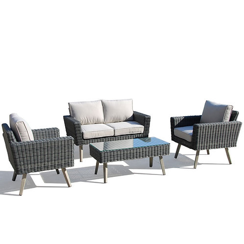 4pc Sunbrella Wicker Set