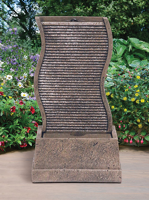 "34"" Curved Water Wall Fountain"