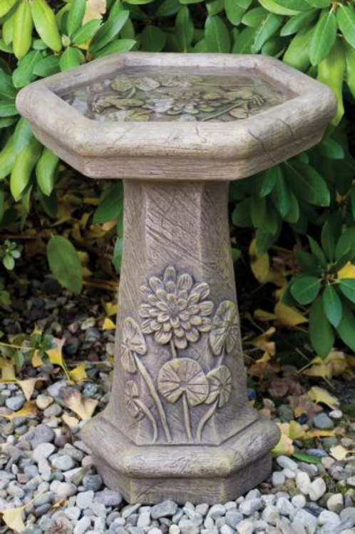 One Piece Lily Pad Bird Bath