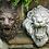 "Thumbnail: 11"" Lion Head Plaque - Plumbed"