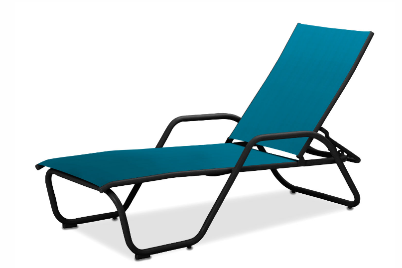 Gardenella Chaise W Arms With Black Frame Sunlinepatio