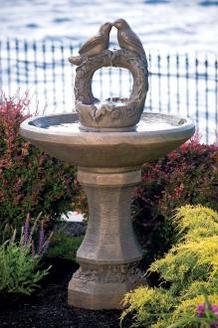 Nesting Birds On Vine Sphere Fountain