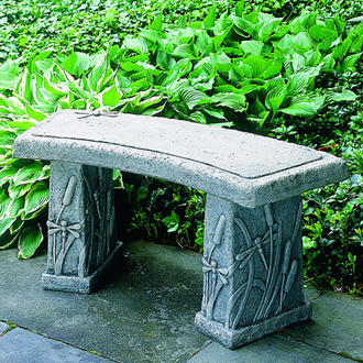 Campania Dragonfly Curved Bench.