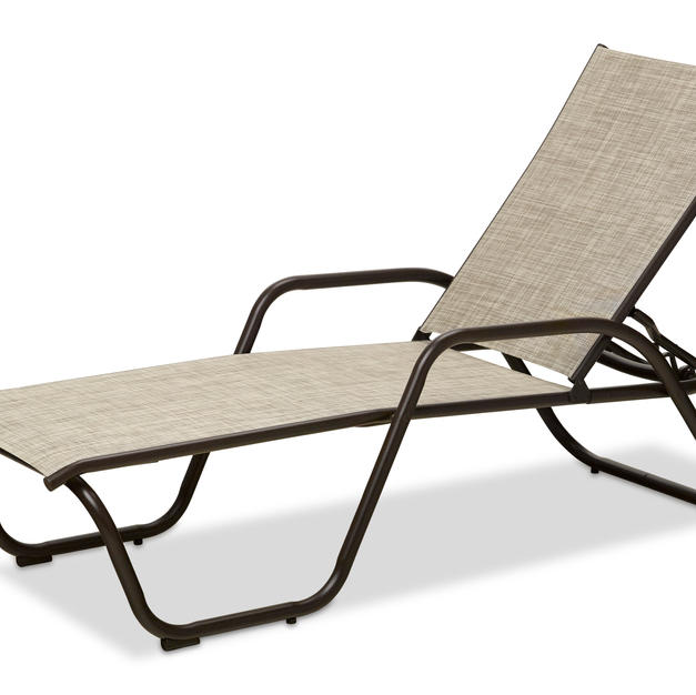 Gardenella Stacking Chaise with Arms