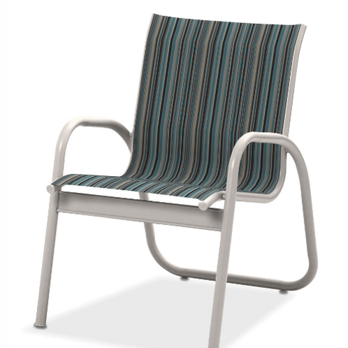 Gardenella Stacking Dining Chair with White Frame