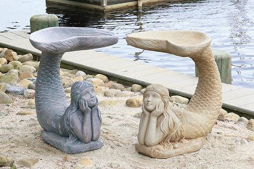 """24"""" One Piece Mermaid Birdbath"""