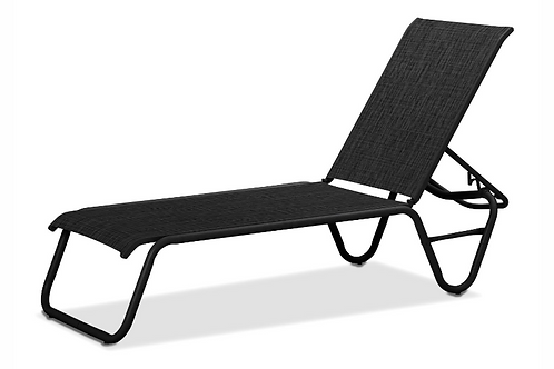 Gardenella armless chaise with Black Frame