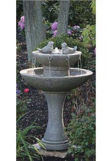"""34"""" Tranquillity Spill Fountain with Birds and Light"""