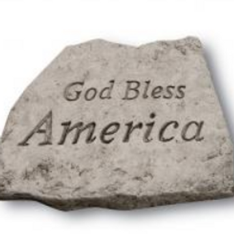 "8"" stone-god bless America"