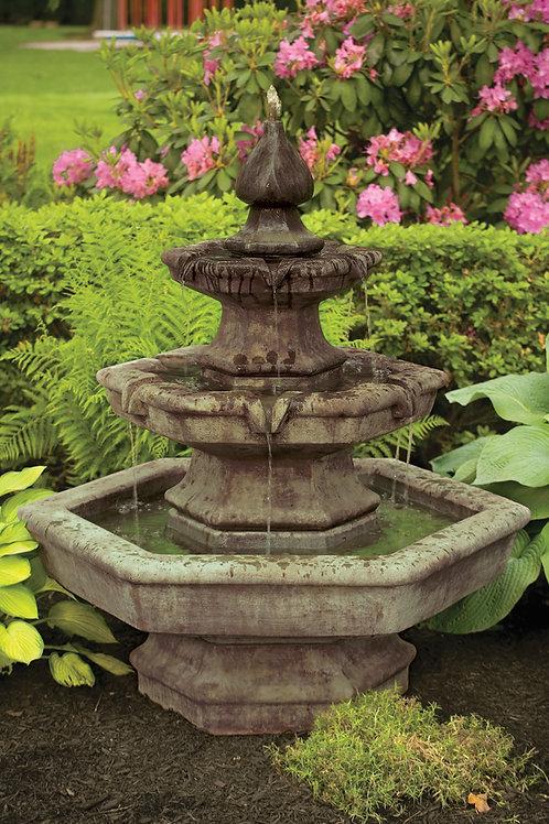 Three Tier Spade Fountain