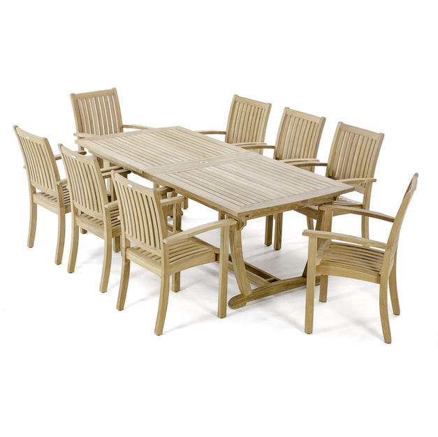 9 Piece Expandable Teak Dining Set