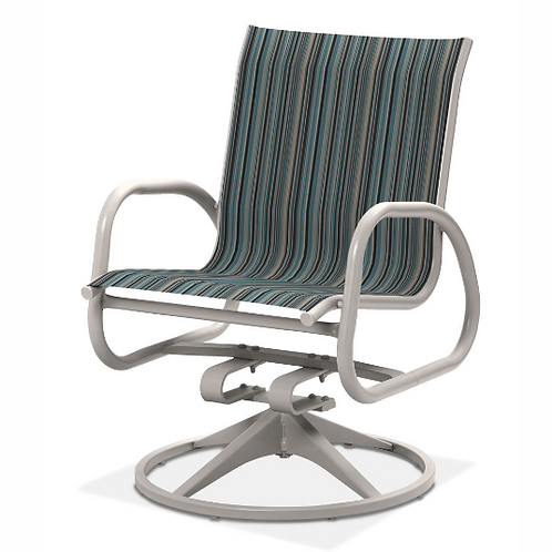 Gardenella Swivel Dining Chair with White Frame