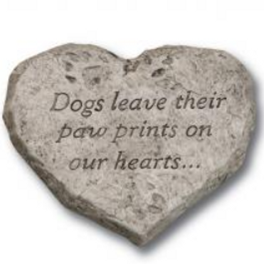 Heart stones-dogs