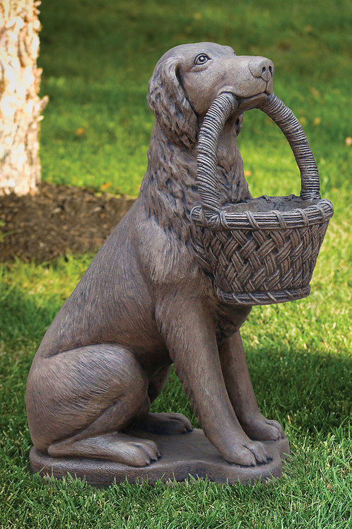 "32"" Retriever Left With Basket Planter"