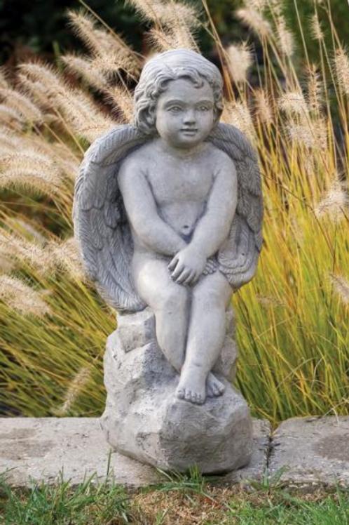 Large Angel on Rock