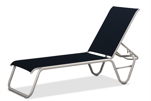 Gardenella Armless Chaise with WhiteFrame