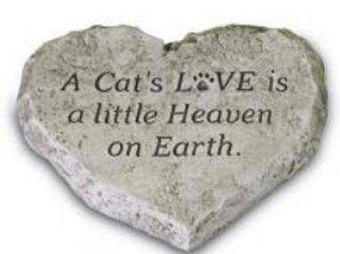 Heart stones-cats