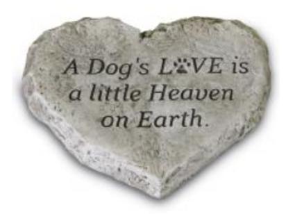 Heart stones-dogs