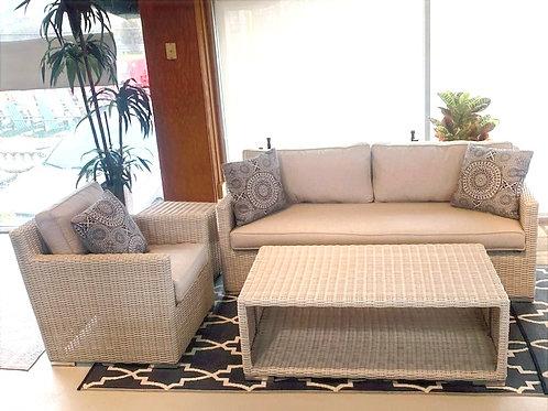 Sandy Beach Sofa,Club Chair, End Table, and Coffee Table Set