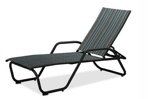 Gardenella Chaise W/arms with Black Frame