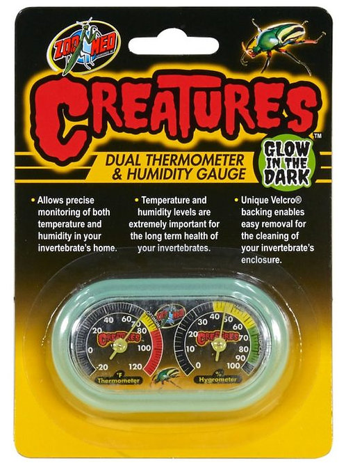 The Creatures™ Dual Thermometer and Humidity Gauge